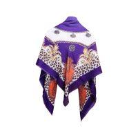 روسري طرح پلنگي بنفش كد 15020085
