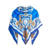 روسري طرح لميز 2 كد 15020119 رنگ آبي تيره