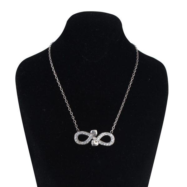 خرید گردنبند نقره زنانه مدل عشق و بینهایت