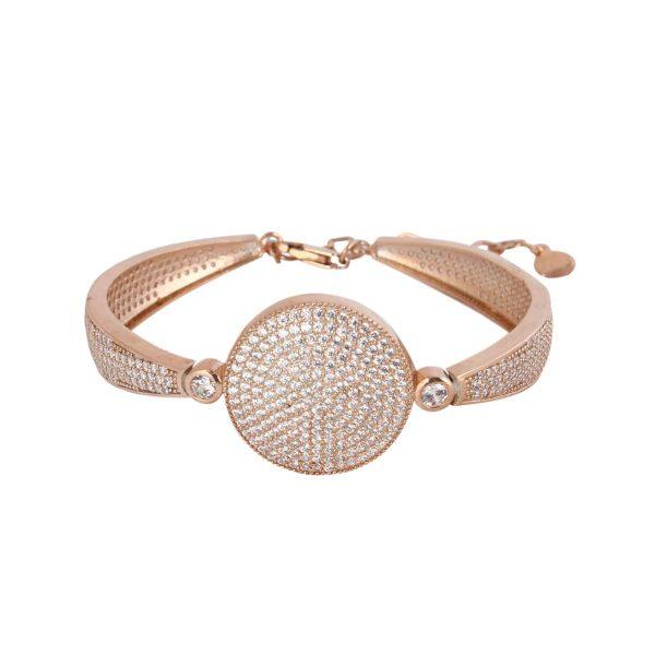 دستبند نگین دار نقره زنانه مد و کلاس مدل آریسته کد ۱۸۰۱۶۴