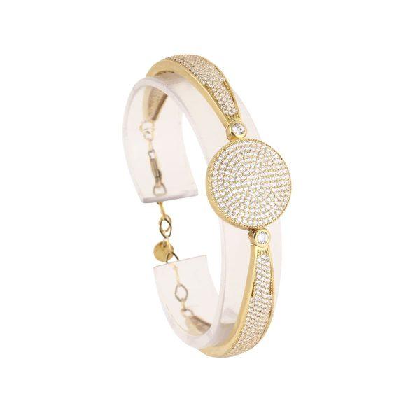 خرید دستبند نقره زنانه نگین دار مدل آریسته
