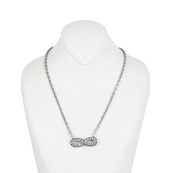 خرید گردنبند نقره زنانه نگین دار مدل بی نهایت سوفی
