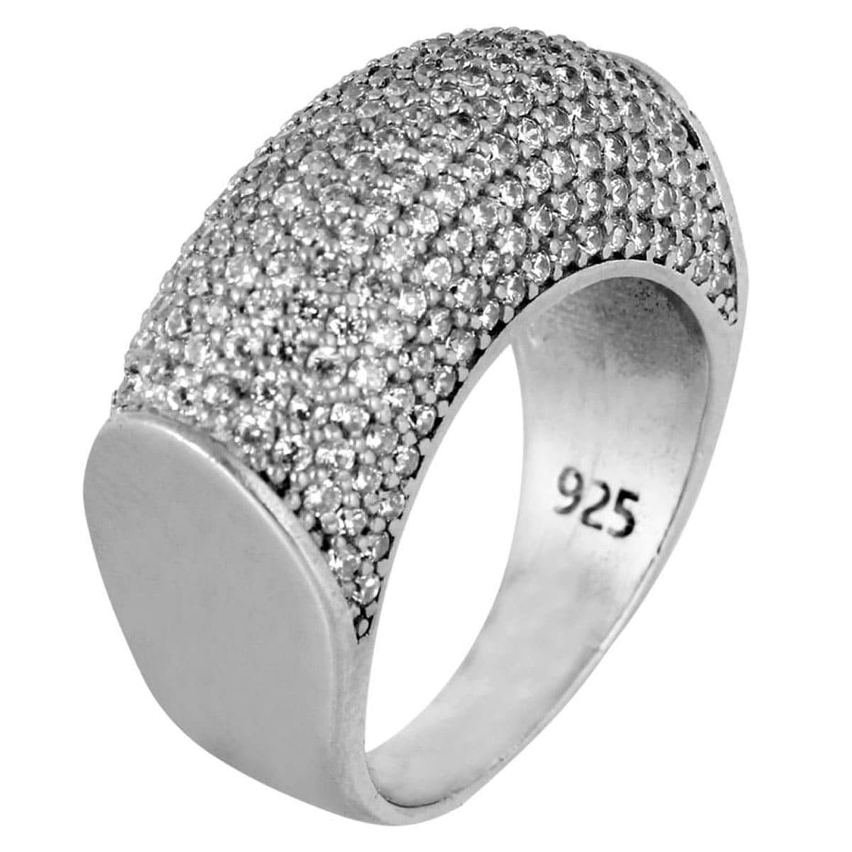 انگشتر نقره مدل Jewel کد ۱۸۰۰۹۷