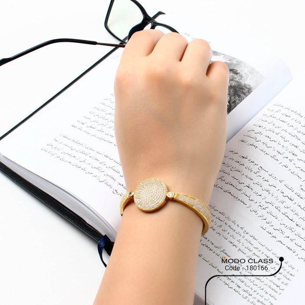 خرید دستبند نگین دار نقره زنانه مدل آریسته