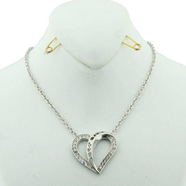 گردنبند دخترانه نقره مد و کلاس مدل عشق کد 180116