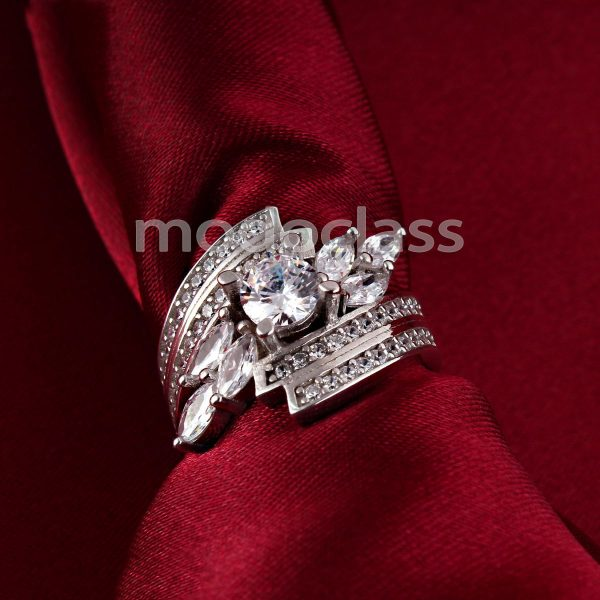 انگشتر نقره مد و کلاس مدل Jeweled کد ۱۸۰۲۸۲