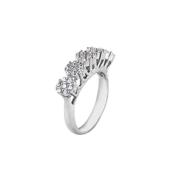 خرید انگشتر نقره زنانه نگین دار مدل آرالیا