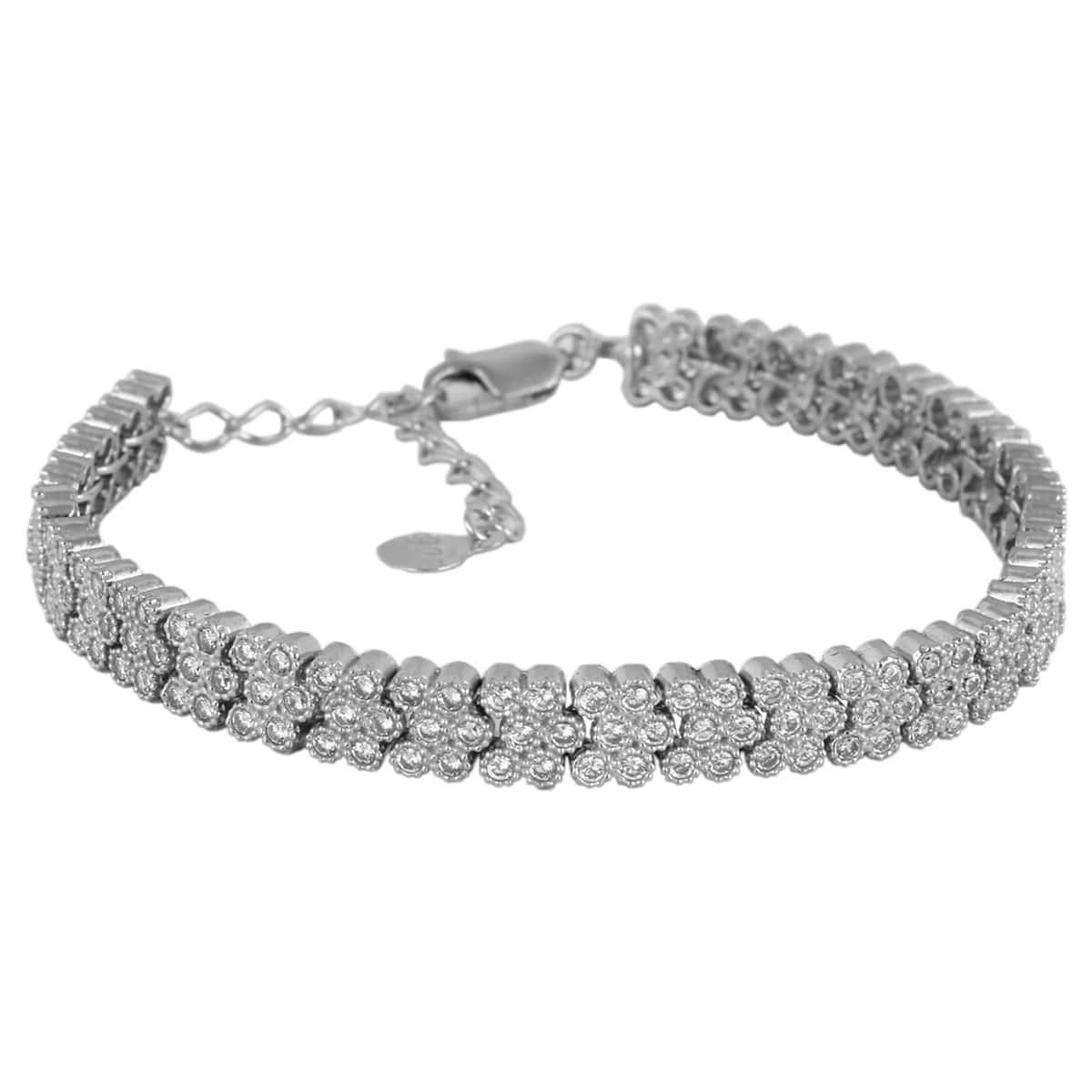 خرید دستبند نقره زنانه نگین دار مدل Jewelry