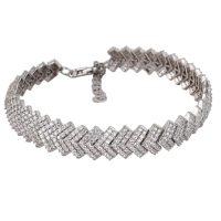 دستبند نگین دار نقره زنانه مد و کلاس مدل Jewelry کد 180253