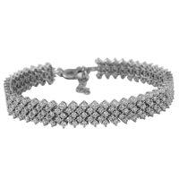 دستبند نگین دار نقره زنانه مد و کلاس مدل Jewelry کد ۱۸۰۲۵۵