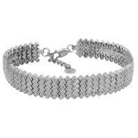 دستبند نگین دار نقره زنانه مد و کلاس مدل Jewelry کد ۱۸۰۲۵۶