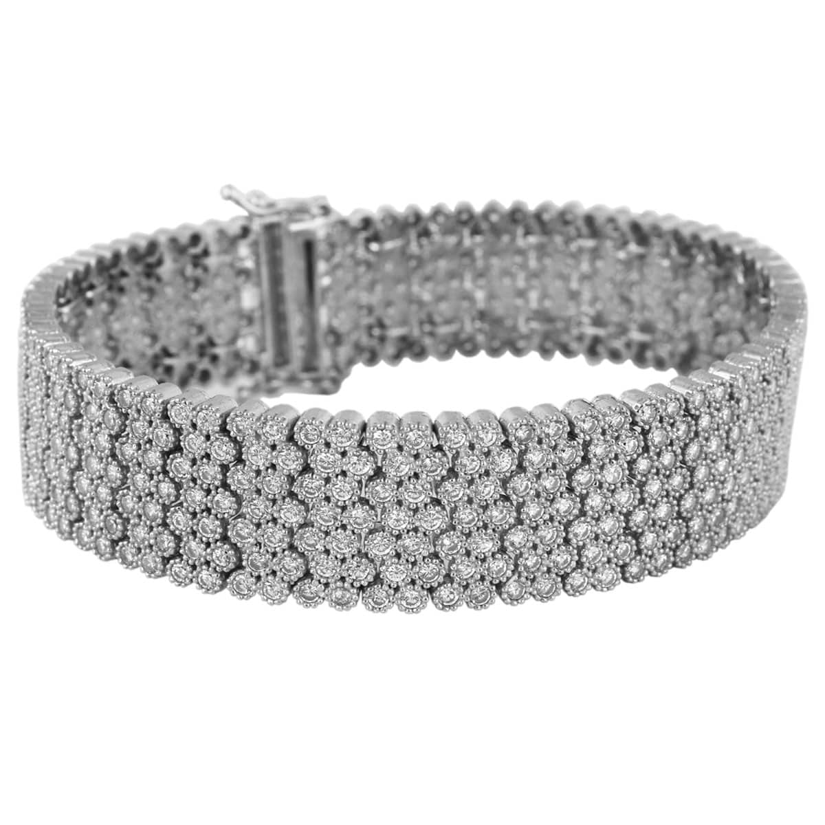 دستبند نگین دار نقره زنانه مد و کلاس مدل Jewelry کد ۱۸۰۲۵۷