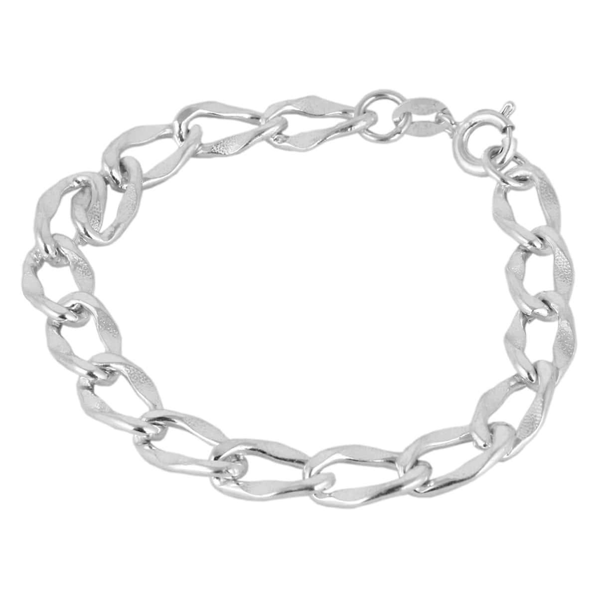 دستبند نقره مردانه مد و کلاس کد ۱۸۰۲۵۸