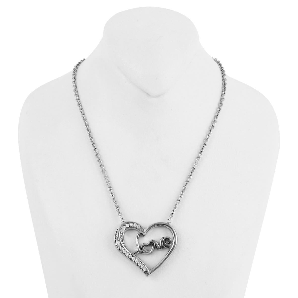 خرید گردنبند نقره زنانه مدل عشق و قلب