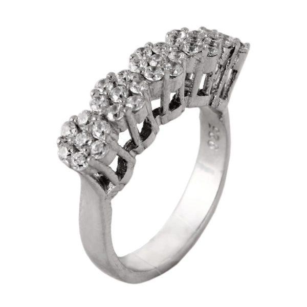 خرید انگشتر نقره زنانه نگین دار مد و کلاس