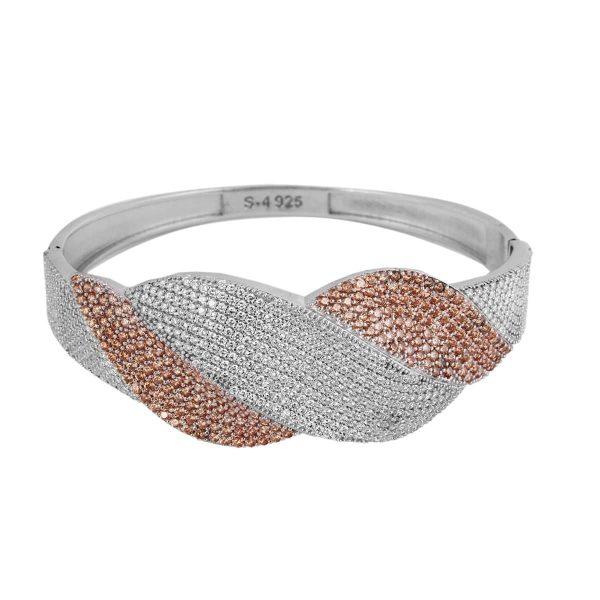خرید دستبند نقره زنانه نگین دار مدل لیانا