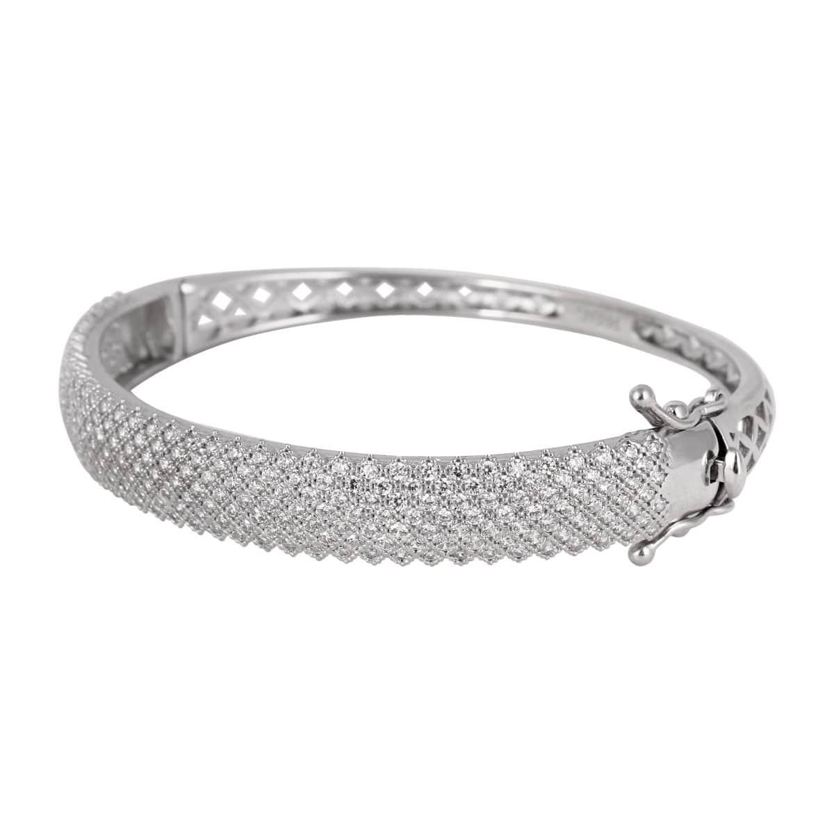 خرید دستبند نقره زنانه نگین دار