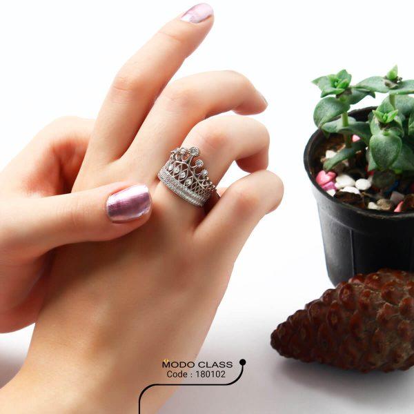 خرید انگشتر نقره زنانه نگین دار مدل ایزابلا