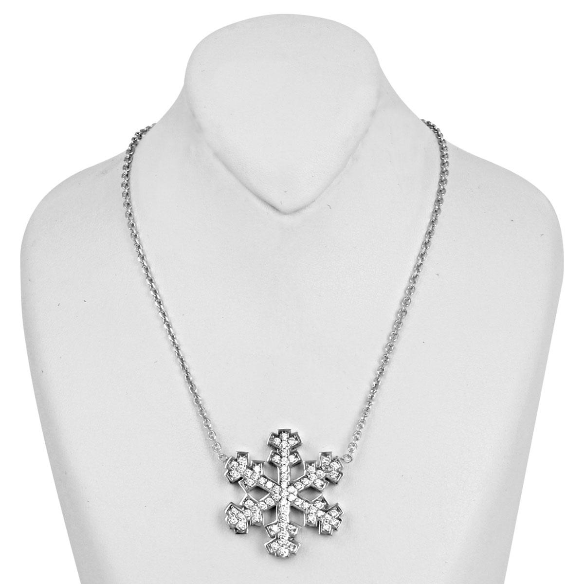 خرید گردنبند نقره زنانه مدل دانه برف