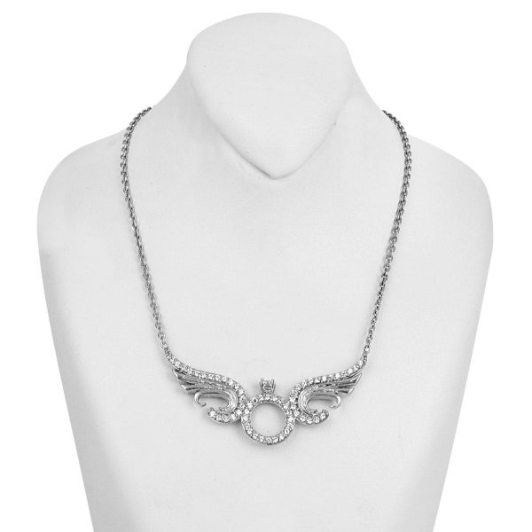گردنبند دخترانه نقره مد و کلاس مدل آلوینا کد ۱۸۰۳۸۸
