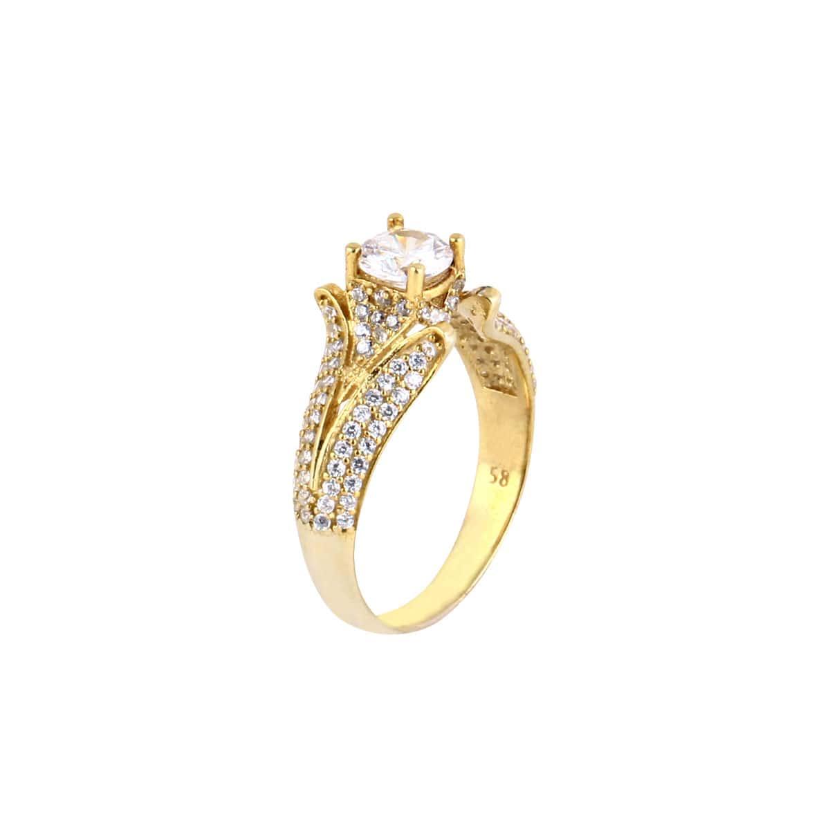 خرید انگشتر نقره زنانه نگین دار مدل آراشید