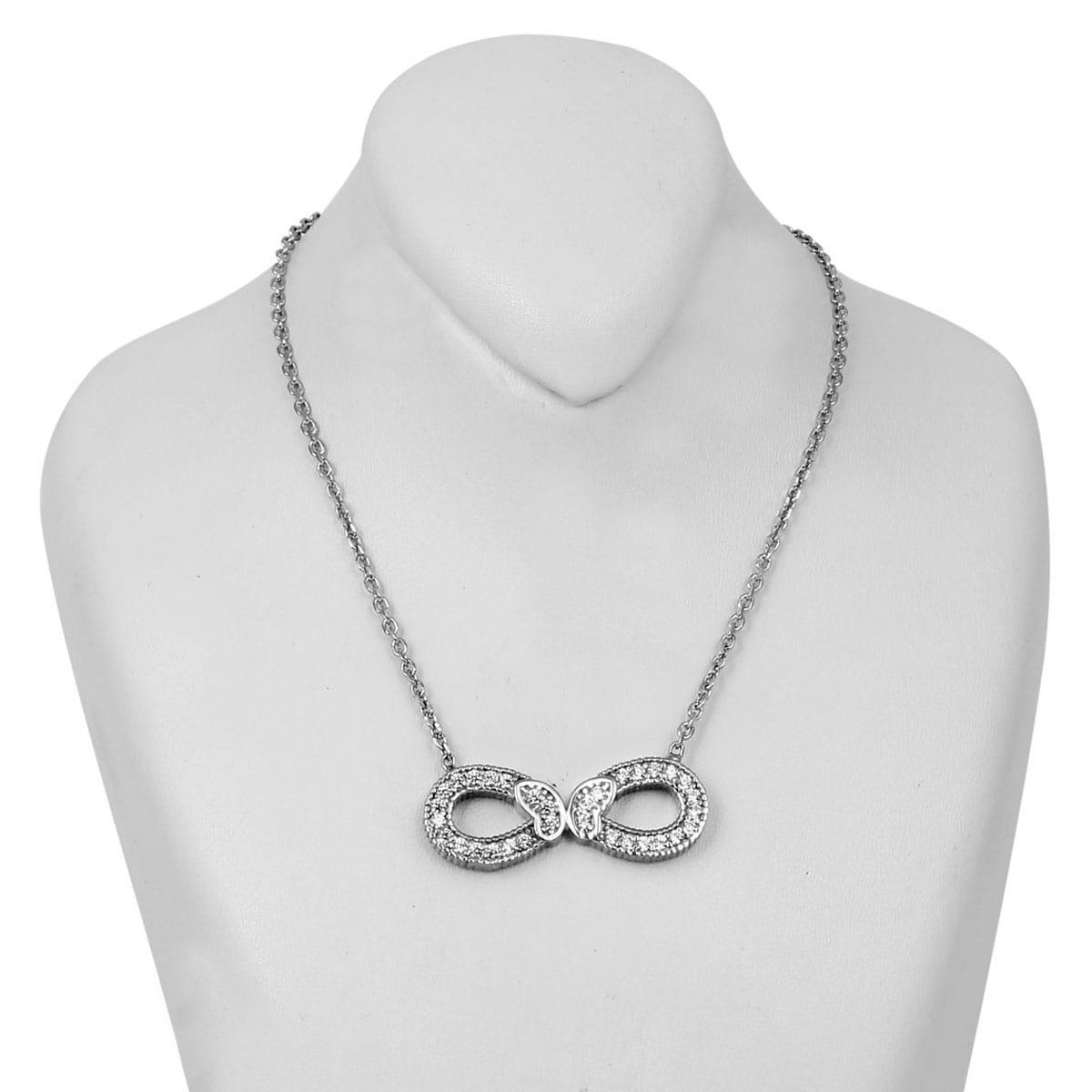 خرید گردنبند نقره زنانه مدل پروانه