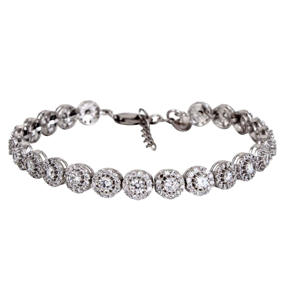 خرید دستبند نقره دخترانه نگین دار مدل آلیس