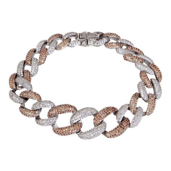 دستبند نگین دار نقره دخترانه مد و کلاس کد ۱۸۰۳۸۰