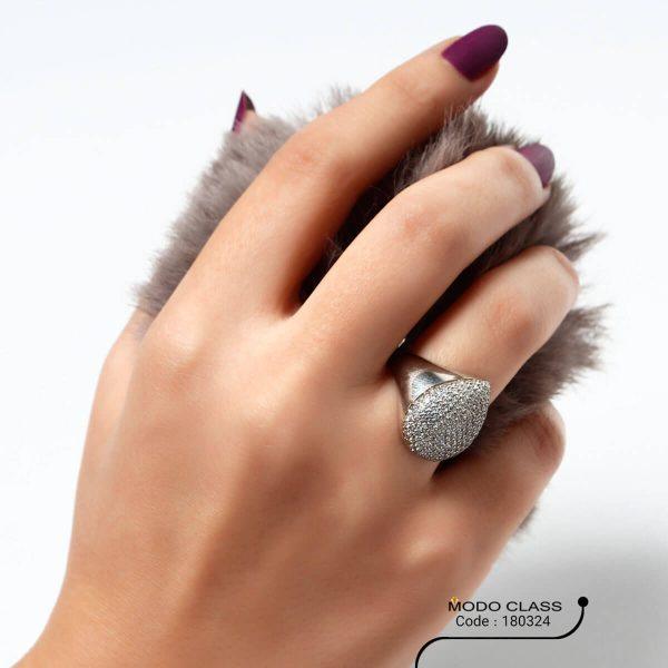 خرید انگشتر نقره زنانه نگین دار مدل رز