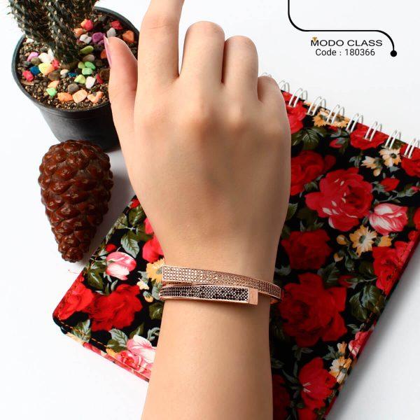 خرید دستبند نقره زنانه نگین دار مدل Unique