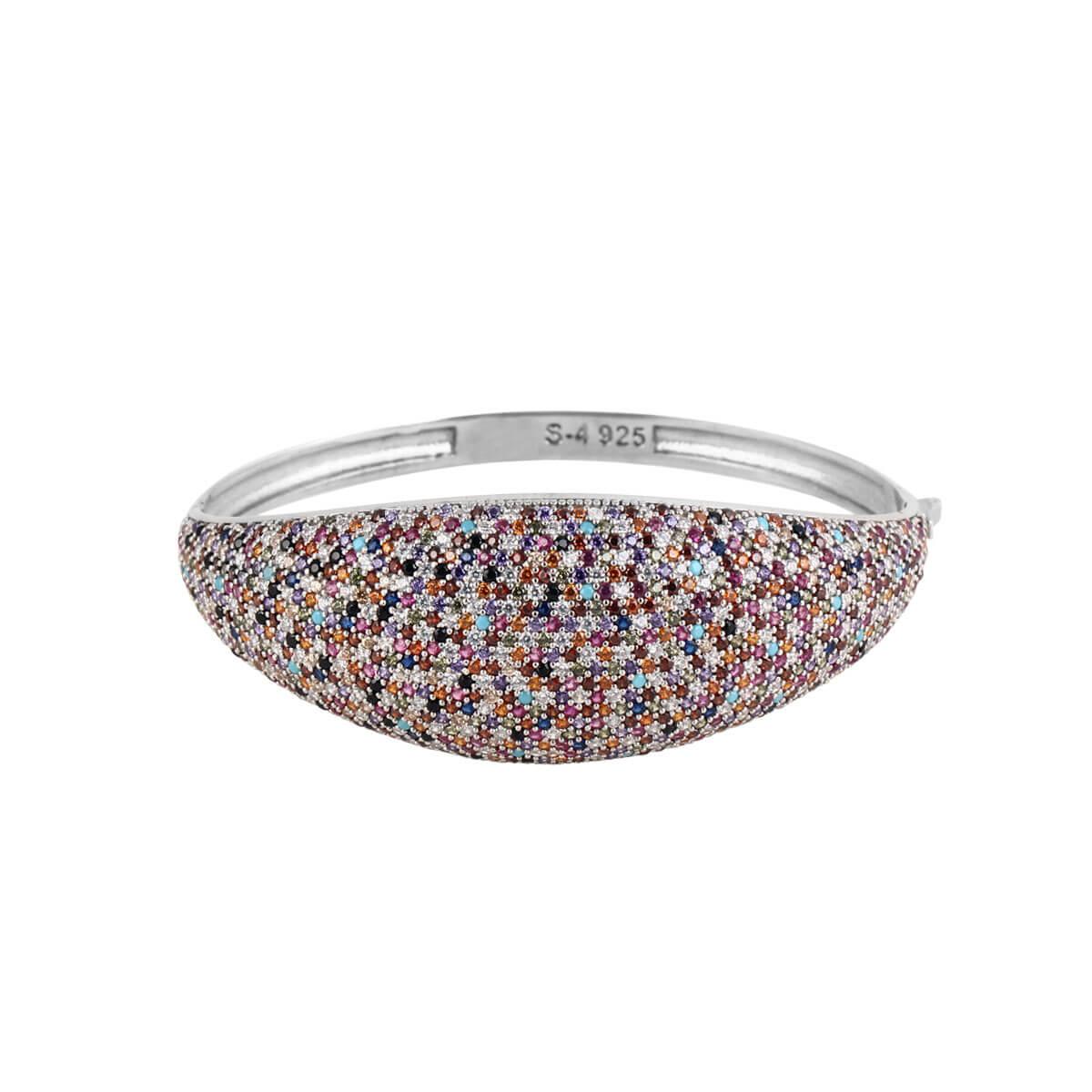 خرید دستبند نقره زنانه نگین دار مدل color