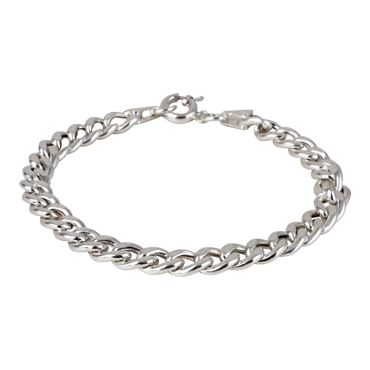 خرید دستبند نقره مردانه مد و کلاس کد ۱۸۰۴۳۸