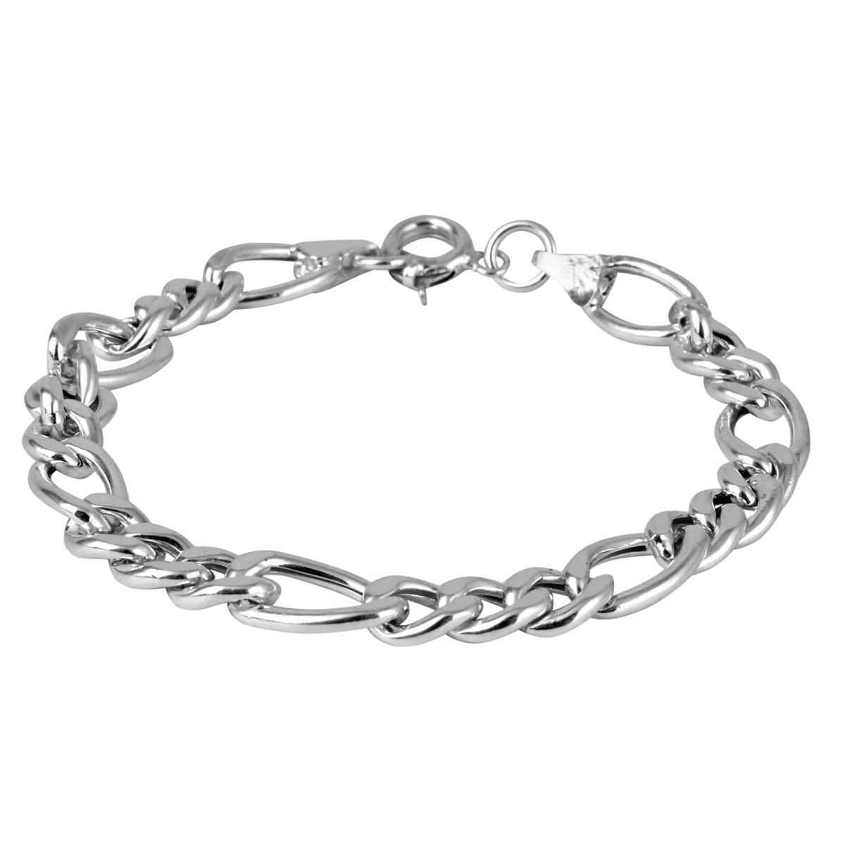 خرید دستبند نقره مردانه مدل کارا