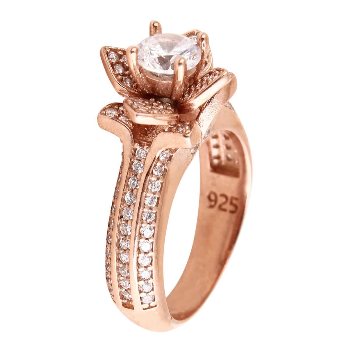 خرید انگشتر نقره زنانه نگین دار مدل رخسانا