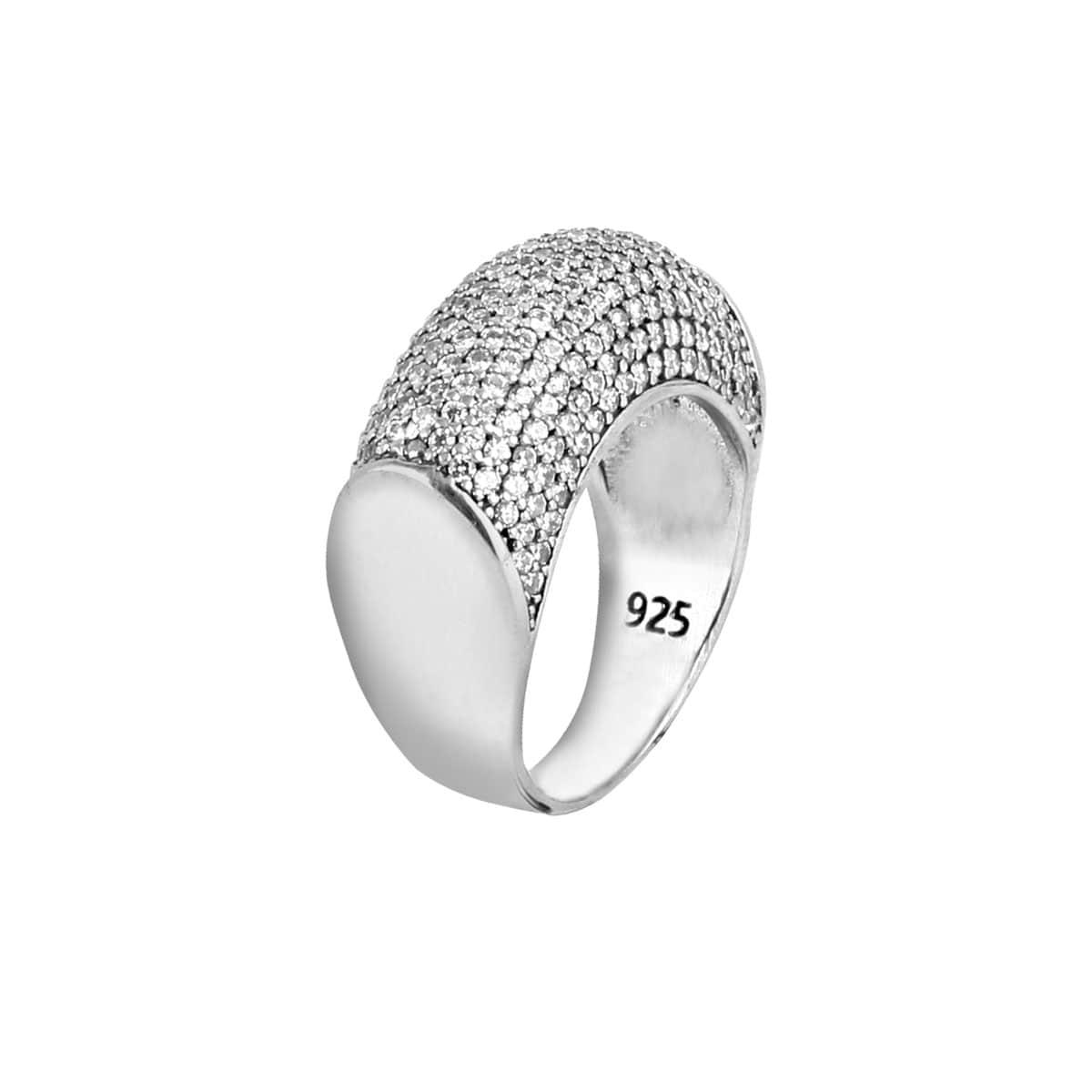 خرید انگشتر نقره زنانه نگین دار مدل رکسانا