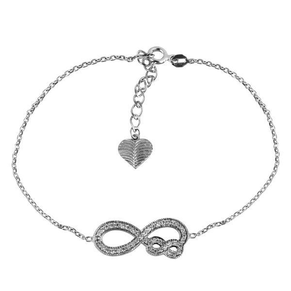 دستبند نقره زنانه مد و کلاس کد 180426