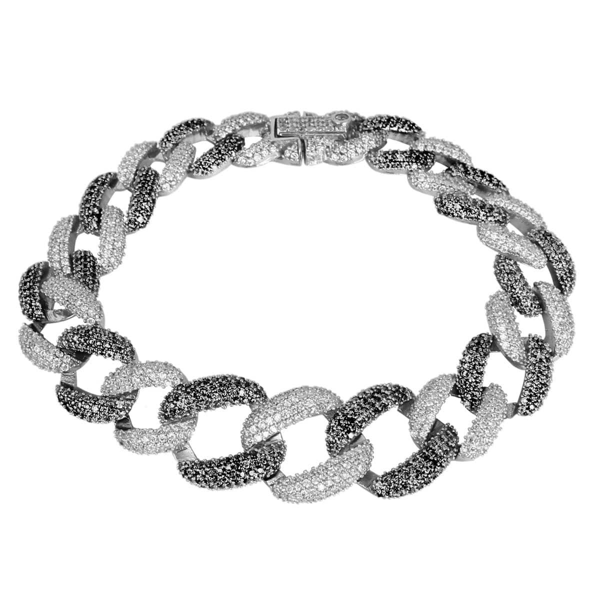 خرید دستبند نقره زنانه نگین دار مدل آنیسا