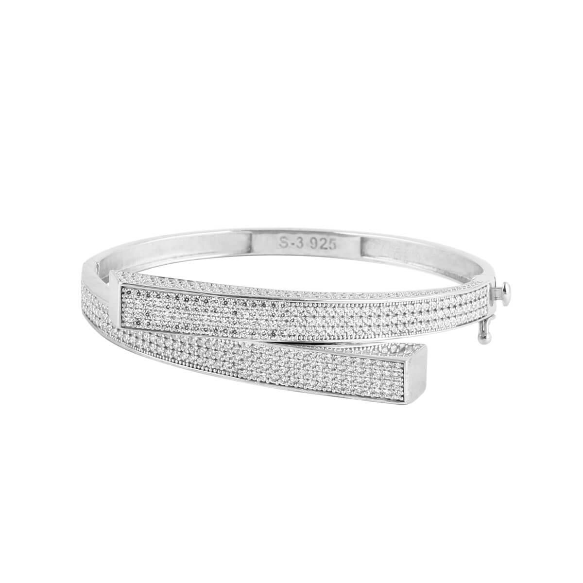 خرید دستبند نقره زنانه نگین دار مدل ونوس