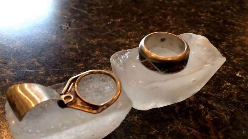 تست نقره با یخ، انگشتر نقره