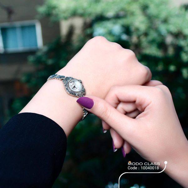 خرید ساعت مچی نقره زنانه عقربه ای سما