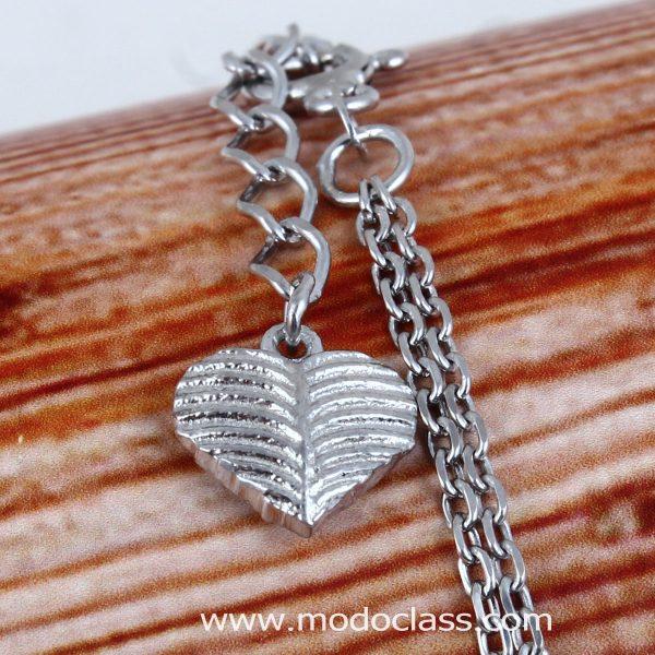 دستبند نقره دخترانه نگین دار مدل رامونا مد و کلاس کد 180482