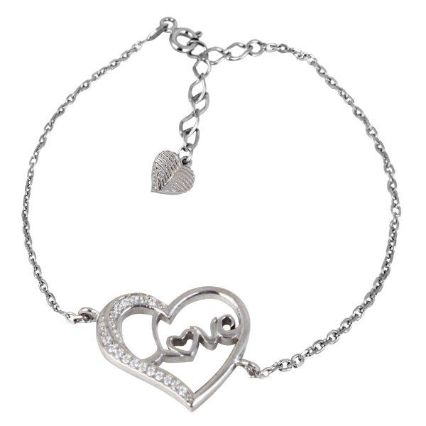 خرید دستبند نقره دخترانه مدل سالسا