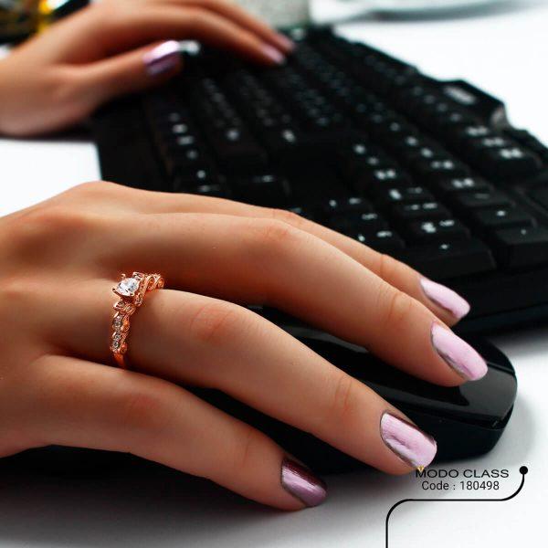 خرید انگشتر نقره زنانه نگین دار مدل وارتوش