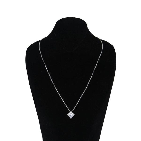قیمت و خرید گردنبند نقره زنانه نگین دار مدل آتوسا