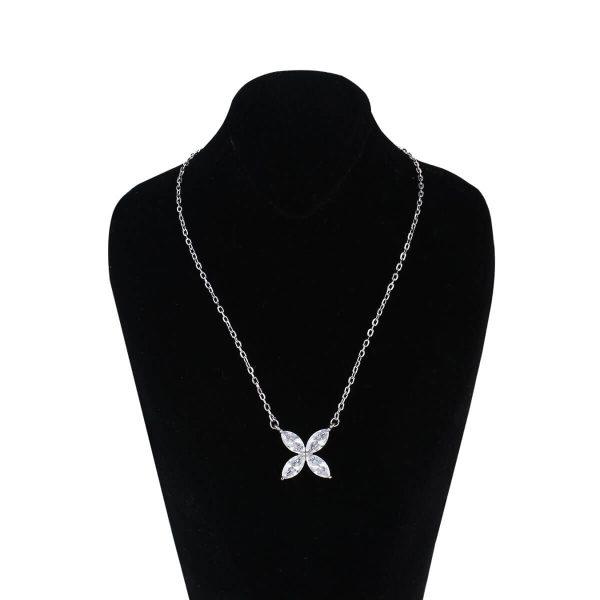 قیمت و خرید گردنبند نقره زنانه نگین دار مدل آرتیمیس