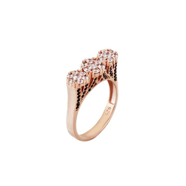 خرید انگشتر نقره زنانه نگین دار مدل فلاور