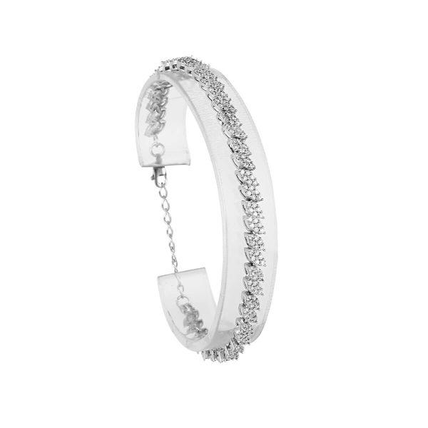 خرید دستبند نقره زنانه نگین دار مدل شایلین