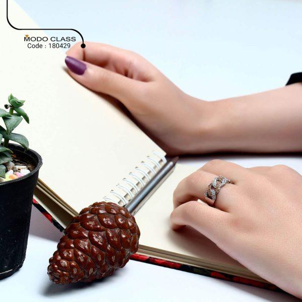خرید انگشتر نقره زنانه نگین دار